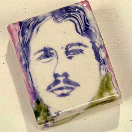 "another ""self portrait"" open box - 1976 - clear glaze with coloured slip."
