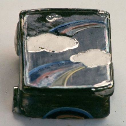 Small container - 1976 - clear glaze,  handbuilt